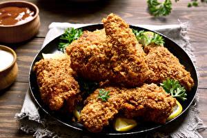 Фотография Мясные продукты Курица запеченная Продукты питания