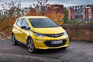 Обои Опель Желтый Металлик 2016 Ampera-e Авто