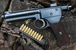 Фото Пистолеты Крупным планом Патроны 1907 Roth Steyr