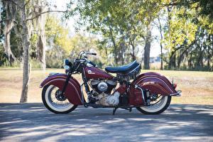 Картинки Винтаж Сбоку 1946 Indian Chief Мотоциклы