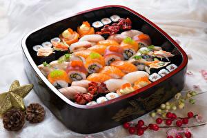 Фото Морепродукты Суши Еда