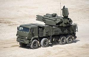 Картинки Грузовики Ракетные установки 006-18 ZRPK Pancir-С1 Авто Армия