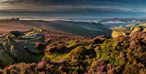 Фотография Великобритания Пейзаж Камни Холмы Derwent Edge Природа