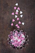Фотография День святого Валентина Сладости Конфеты Сердечко