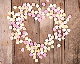 Фотография День всех влюблённых Сладости Конфеты Доски Сердечко