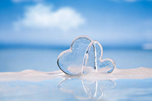 Фотография День святого Валентина Двое Сердце Льда