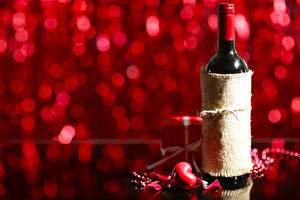 Картинки День святого Валентина Вино Бутылка Сердце