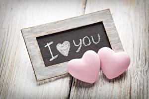 Фотографии День святого Валентина Доски Сердце Английский