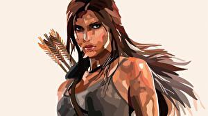 Фотография Векторная графика Rise of the Tomb Raider Лара Крофт Игры Девушки