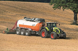 Фотографии Сельскохозяйственная техника Поля Трактор 2011-17 Claas Axion 950
