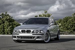 Фото BMW Серебристый E39 Машины