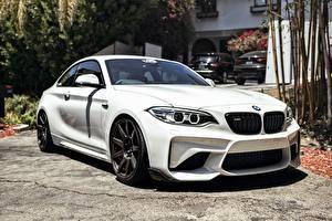Картинки BMW Белый Купе F87 Машины