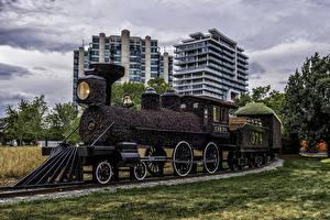 Картинка Канада Парки Поезда Дизайн Ottawa Ontario