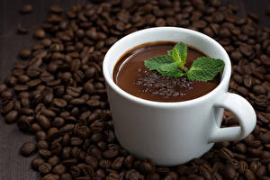 Фотографии Кофе Чашка Зерна