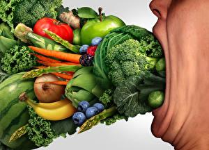 Картинки Креативные Овощи Фрукты Смешная Пища