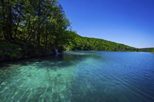 Обои Хорватия Парки Озеро Леса Plitvice Lakes National Park