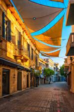 Обои для рабочего стола Республика Кипр Здания Улица Nicosia город