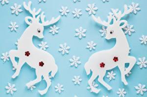 Картинки Олени Рождество Снежинки