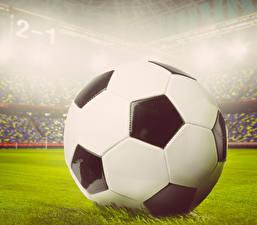 Фотография Футбол Крупным планом Мяч