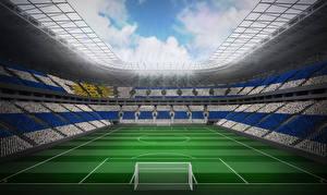 Фото Футбол Стадион Газон