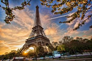 Фотография Франция Париж Эйфелева башня Города