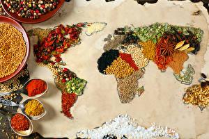 Картинки География Приправы Дизайн Пища