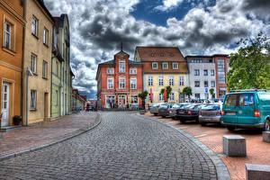 Фотография Германия Дома Дороги HDRI Улица Barth Города