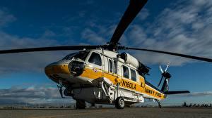 Картинки Вертолеты Sikorsky S-70A Авиация