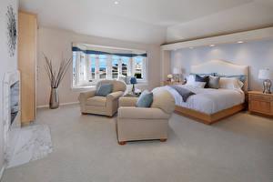 Фотография Интерьер Дизайн Спальня Кровать Кресло