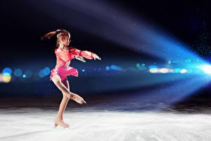 Фотографии Девочки Лед Коньки Танцы Дети