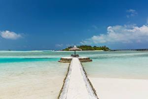 Картинка Мальдивы Тропики Море