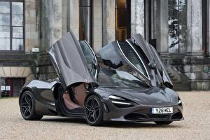 Обои Макларен Серый Металлик 2017-18 720S Coupe Launch Edition Авто