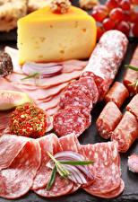 Фотография Мясные продукты Колбаса Сыры Нарезка