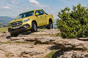 Фото Mercedes-Benz Желтый Пикап кузов Золотой 2017-18 X-Klasse Progressive Worldwide