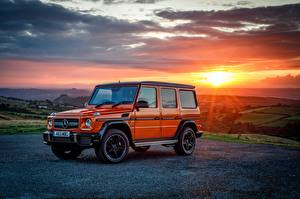 Фотографии Мерседес бенц Гелентваген Оранжевый Металлик 2016-17 G 63 Colour Edition Авто