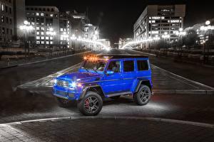 Картинки Мерседес бенц Гелентваген Металлик Синий 2017 G 550 4×4² Авто