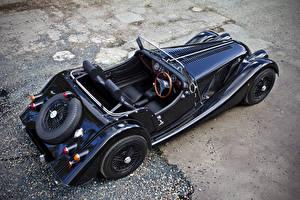 Фотография Morgan Motor Company Черный Металлик Кабриолет Сверху 2011 4-4 75th anniversary Автомобили