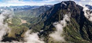 Обои Горы Утес Мох Papua Indonesia