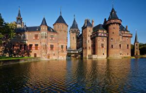 Картинки Нидерланды Замки Дизайн De Haar Castle Города