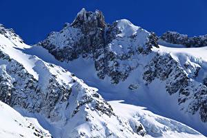 Картинки Новая Зеландия Гора Зимние Снеге Methven Heli-Skiing Природа