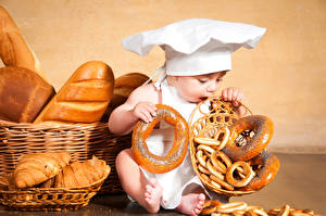Картинка Выпечка Хлеб Грудной ребёнок Шапки ребёнок