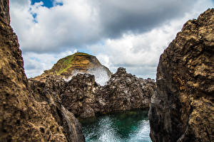 Фото Португалия Утес Каньон Madeira Природа