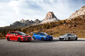 Картинки Subaru Втроем
