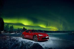Фотография Тойота Красная Металлик Ночные 2016-18 GT 86 Worldwide автомобиль