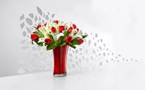 Картинка Тюльпаны Вазы Цветы