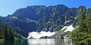 Фото Штаты Парки Горы Леса Озеро Mount Baker Snoqualmie National Forest