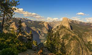 Обои Штаты Парки Горы Камень Йосемити Ель