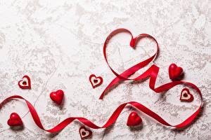 Обои День всех влюблённых Лента Сердце