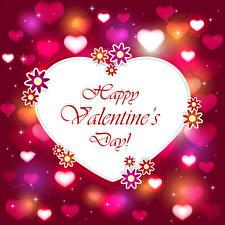 Обои День всех влюблённых Векторная графика Сердечко Английский