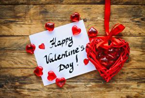 Фото День всех влюблённых Доски Английский Сердечко Листва Бантик